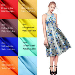 Реальные шелк 30мм тяжелых цифровой печати шелковый креп De Chine ткани для одежды