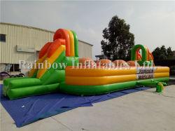Course à obstacles Inflatable Big Baller jeu Wipeout de citrouille