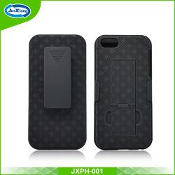 Hete Verkoop 2 in 1 Shell Kickstand Geval van Combo van het Holster van de Dia voor iPhone 5c/5/Se met de Klem van de Riem
