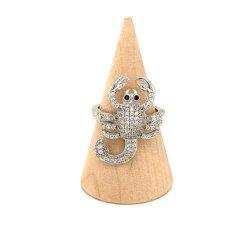 925 de echte Zilveren Dierlijke Ring van de Vorm van de Schorpioen met Zirkoon