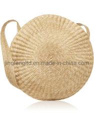 2019 Natureza Praia de palha papel tecidos sacos de croché Mala de senhora artesanais