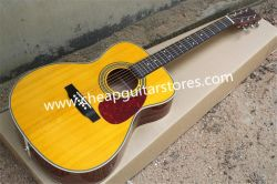 カスタマイズされるクロムハードウェアが付いている41黄色いアコースティックギターかPiceaのAsperataのボディまたは提供