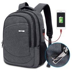 RPET recyclables Collège antivol de sac de voyage USB Sac à dos pour ordinateur portable d'affaires