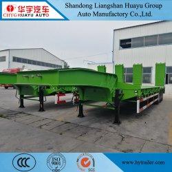 Eje 2/3/4/cargador de Bajo Pesado Lowboy/camión de plataforma baja la cabeza semi remolque para maquinaria pesada Transporte de la excavadora