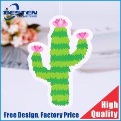 Cadeau promotionnel Cactus Plantes pendaison voiture Diffuseur de parfum parfum du papier