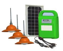A luz de LED solares Kits de iluminação doméstica Lâmpada Direita do Sistema Reprodutor de música de rádio FM com 1W*4 Luz de PCS