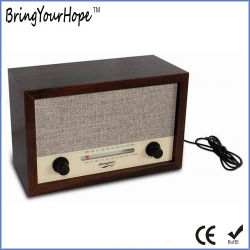 Madera de estilo retro de portátiles de radio AM/FM (XH-FM-010)