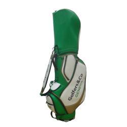 Logotipo da bricolage PU saco de golfe de couro