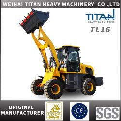 Zl16 1.6طن ماكينات مزرعة اللوادر الكهربائية ذات العجلات الصغيرة الصينية