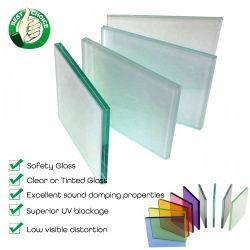 Gebäude-Fenster-Tür-härtete flache ausgeglichene Sicherheits-Fassade verbogene lamellierte Architekturdekorative Aufbau-Glaszwischenwand ab