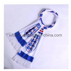Custom дешевые 15X150см печать вязания полиэстер футбол футбол Шарфа