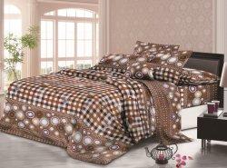Stof van het Blad van het Bed van de polyester de Geborstelde Vastzettende Stof, de Stof van Bedsheets van het Huis