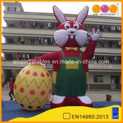 Прелестная гигантские надувные Пасхальный заяц модели надувной рекламы мультфильм (AQ56138)