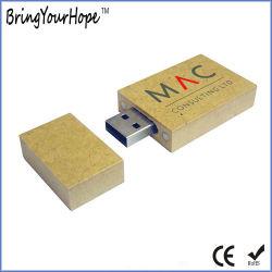 De rechthoekige Vorm Gerecycleerde Aandrijving van de Pen van het Document USB (xh-usb-131)