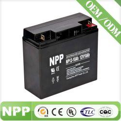 Batterij van UPS voor de ZonneOplossing van de Macht van de Batterij (12V18AH) verzegelde Vrije Batterij van het Onderhoud van de Batterij van de Batterij UPS van de Batterij SLA van het Lood de Zure Navulbare