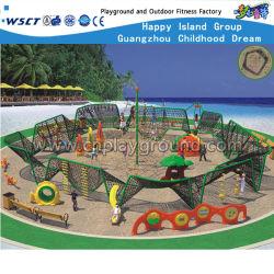 Parco dei Divertimenti Arrampicata su corda Parco giochi combinazione di strutture di arrampicata a rete Per bambini (HD-Kq50104A)