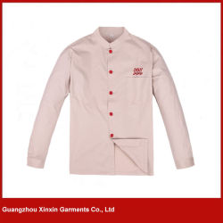 Vêtements uniformes de vêtements de travail bon marché faits sur commande de chef pour les vêtements fonctionnants (W283)