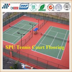 Le court de tennis extérieur de SPU personnalisé par Cn-S02 folâtre des surfaces de court de tennis de plancher