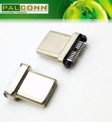 Bouchon de multifonction USB3.1-C, 22 postes de type CMS de profondeur, appelée Shell, la durabilité=10000 cycles, intensité nominale~5A MAX. Placage du contact Au~30u'' Min.