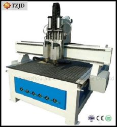 Kopf-Holzbearbeitung CNC-Maschinen-chinesisches hölzernes Schnitzen des CNC-Fräser-zwei