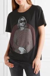 2017 Venda quente mulheres algodão impresso e T-shirt Cashmere-Blend por grosso