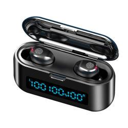 Portátil à prova de mini estéreo digital táctil do monitor de Energia Tws auriculares Bluetooth sem fio LED Fone de ouvido