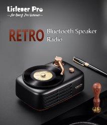 전문가용 무선 Bluetooth 휴대용 미니 레트로 2.0 CH 3D Hi-Fi 오디오 스피커