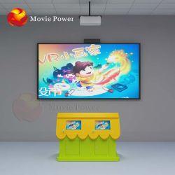 O parque de diversões atraiu 9d Vr Simulator jogos interactivos 3D projeção de vídeo interativo