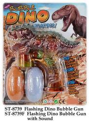 Piscar Dino Pistola de bolha com som Toy