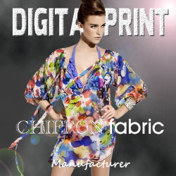 2017 Newest 100% polyester Tissu imprimé Chiffon