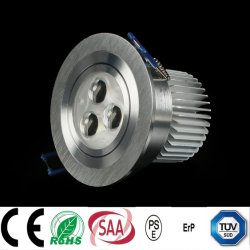 Dimmable, Isolated, external 9W LED Recessed Downlight