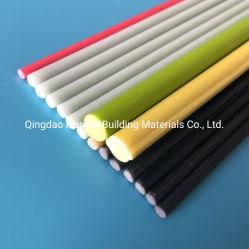 Personalizar Vela sobrepostas de fibra de vidro, materiais compósitos de fibra de haste flexível, PRFV GRP barra flexível de fibra de vidro