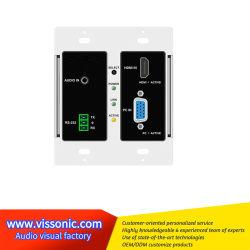 HDMI/VGA aan Switcher van de Matrijs van Hdbaset Wallplate vis-He20