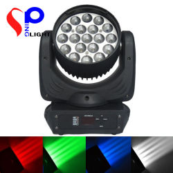 DJ Bar Clubのための19psc 12W LED RGBW Stage Light Beam Wash Moving Head Lamp Lighting