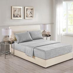 Forro Polar Bedsheet 4PCS con color sólido