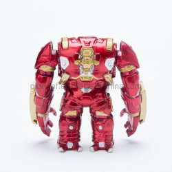 Los juguetes de Marvel Avengers 4cm de la figura de la guerra infinita Iron Man Llavero de metal Hulk Buster figura de acción Juguetes Muñecas Modelo Kerring