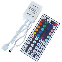وحدة التحكم RGB عن بُعد بالأشعة تحت الحمراء DC12 فولت 6 أمبير 44 مفتاحا