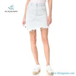 E.P. 520女性ジーンズの服の女性のデニムの小型スカートを漂白しなさい