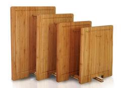 La alta calidad al por mayor de madera de bambú natural queso para picar junta de corte