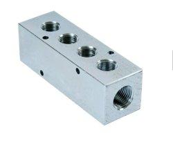 L'usinage fraisage CNC Precision Metal en acier inoxydable du bloc collecteur du distributeur hydraulique en aluminium