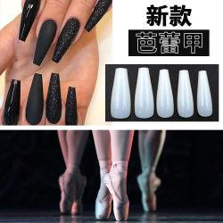 100PCSプラスチック釘の先端のバレエの形の偽の釘の芸術の先端