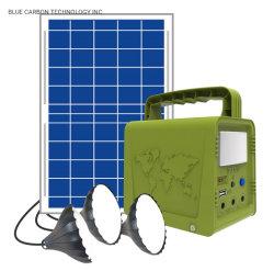 Carbono azul Produto de armazenamento de energia solar para Camping Use 18W