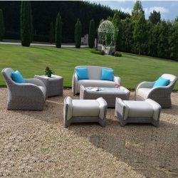 現代余暇のホテルのホーム藤PUの革宝物ソファーベッドの屋外の庭の家具