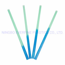 Cambio de color desechables de plástico de paja de Agua Potable (PP)