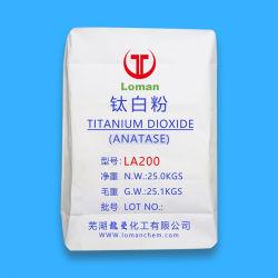 Poudre blanche de qualité alimentaire de 99 % de dioxyde de titane anatase La200