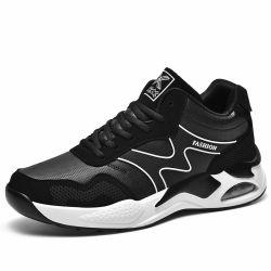 Produit étanche noir en cuir personnalisé occasionnel de la TOE Chaussures pour hommes