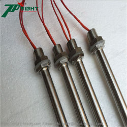 Cartucho de alta calidad de un solo elemento calefactor eléctrico de la cabeza del tubo de varilla de calentamiento
