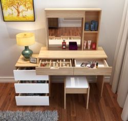 Schlafzimmer-hölzerne Möbel-Eitelkeits-Frisierkommode-Verfassungs-Abziehvorrichtung mit Spiegel