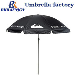 خارجيّ سوداء بوليستر [سون] سوق مظلة مع علامة تجاريّة بيضاء يطبع