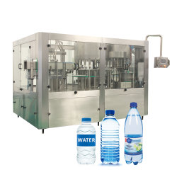 Haute vitesse Zhangjiagang 8000bph 10000bph 500ml 1L'eau purifiée bouteille en plastique de l'embouteillage de remplissage d'équipements d'étanchéité de la machine